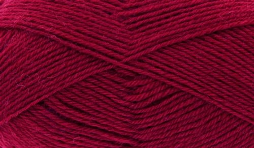 King Cole Pure Wool Yarn 500g Cone 4ply - Bordeaux